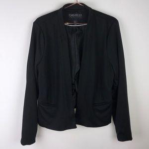 Forever 21 Plus 1x Basic black blazer
